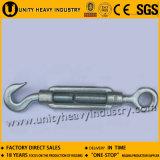 Aço De Ferro Galvanizado DIN 1480 Turnbuckle