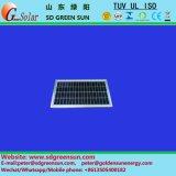 緩和されたガラス蓋およびAlフレームが付いている1W太陽電池パネル
