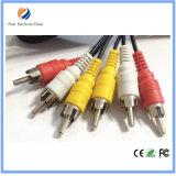 Hete Verkopende 3 RCA aan Kabel 3 RCA AV RCA voor de Kabel van kabeltelevisie