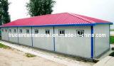 El marco de acero ligero móvil/modular/prefabricado/prefabricó la casa para el almacén del sitio