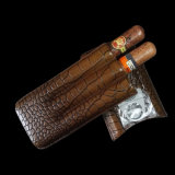 Cohiba Crocodile Leather Crosse Holster Cases Humidors with Cutters (ES-CA-002)