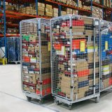 Китай гнездился изготовление контейнеров крена ячеистой сети хранения