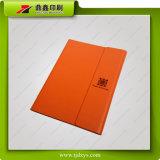Тетрадь дневника бумаги книга в твердой обложке PU профессиональной таможни кожаный