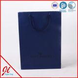 Бумажный мешок ручки, печатание бумажного мешка, роскошная хозяйственная сумка бумаги евро с тесемкой