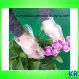 Ясные перчатки HDPE использующ в саде, кухне, медицинско, Волос-Умирая