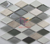 Luce Emperador Marmo Mix Cracked Ceramic Tile Crystal Mosaic (CS252)