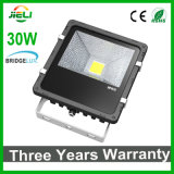 3 anos de diodo emissor de luz Floodlight de Warranty Outdoor Black 30W
