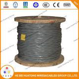 Aluminium de câble d'entrée de service de l'UL 854/type de cuivre expert en logiciel, type R/U Ser 1/0 1/0 1/0 2