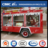 Coche de bomberos de Isuzu 4*2 con 3 clases que dispensan los materiales (agua, espuma, polvo)