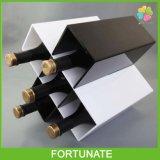 Crémaillères d'étalage acryliques de bouteille de vin de support de taquet de vin de plexiglass
