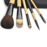 Natural Hairの5PCS Bamboo Handle Makeup Brush