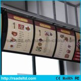 Signage personnalisé de cadre léger de menu de la taille DEL pour le restaurant