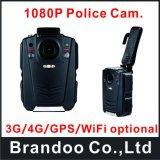 Камера несенная телом с контроль в реальном маштабе времени Remote WiFi положения GPS для сотрудников охраны и полиций