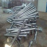 As pilhas espirais galvanizadas quentes, parafuso empilham o serviço da soldadura da tubulação de aço