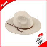 Chapéu largo de papel da borda de Sun Panamá da palha do Fedora do chapéu de palha