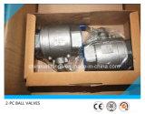 2PC válvula de esfera rosqueada 1000wog/2000wog inoxidável do aço 304