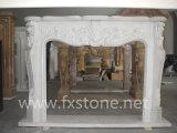 Mantel de marbre de marbre de cheminée de /Stone de mantels de cheminée/mantel en pierre