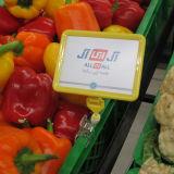 De plastic Raad van het Teken van de Vertoning van de Prijs voor het Fruit van de Supermarkt en de Plantaardige Plank van de Vertoning