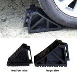 Cuña de goma amarilla de la rueda del carro del coche, tapón de la rueda de coche