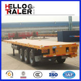 3axle 40FT Flat Bed Semi Trailer 45FT Container Shipping Trailer