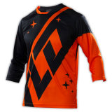 Usura di riciclaggio di sport di Motorcross di nuovo disegno arancione che corre la Jersey (MAT57)