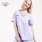 Nurse、Scrubs Sets、Popular Nurse Uniformのための100%年の綿Medical Uniform Set