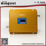 Усилитель сигнала мобильного телефона полосы CDMA/Dcs 850/1800MHz 3G 4G высокого увеличения двойной с антенной