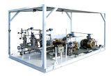 Het Benzinestation l-CNG die van Luke l-CNG het Vullen van de Post van brandstof voorziet l-CNG
