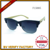 F15005 Half Metal Frame Sunglasses mit Bamboo Arms, CER, FDA