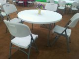 Großverkauf 4ft 122cm Round Plastic Small Banquet Dining Table