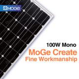 Панель солнечных батарей Mono 100W PV фотоэлемента хорошего качества Moge