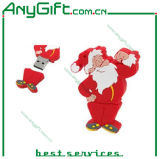 PVC Santa Claus disco flash USB 12