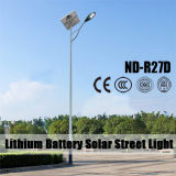 (ND-R27D) (el panel solar 80Wp + 30W blanco LED + batería de litio de 12V 60Ah) luces de calle solares