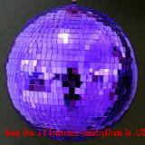 La sfera di vetro dell'indicatore luminoso della sfera dello specchio di rotazione del DJ per la fase illumina l'indicatore luminoso chiaro del locale notturno della discoteca