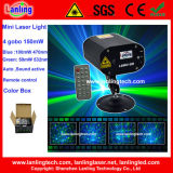 Mini Remote Control de luz láser Gobo