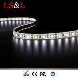 Ce 60LEDs/M, 14.4W, 5m/Roll impermeável da luz de 5050 Ledstrip & RoHS