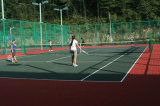 Non court de tennis de colle, plancher pur de cour de sport de polypropylène de 100% (bronze d'argent d'or de tennis)