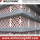 Mur rideau en aluminium de matière composite d'enduit de PVDF