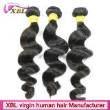 Естественные черные бразильские самые лучшие волосы качества соткут