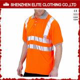 Hallo-namelijk de Hoge Overhemden van het Polo van het Werk van het Zicht Oranje