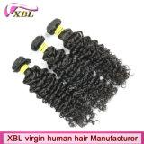 Commercio all'ingrosso cambogiano del tessuto dei capelli del Virgin nero naturale