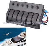 押しボタンの回路ブレーカ6の一団のロッカースイッチパネルの電気スイッチ