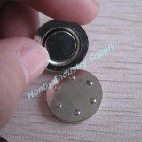 17mm potente adhesivo alrededor del botón de la insignia magnética Volver