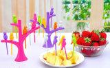 Пластичная вилка 6PCS/Set птиц вилки плодоовощ пташки