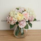 Flor artificial ampliamente utilizada de Rose y del Hydrangea Bouqet para la decoración (SF12510)