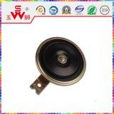 Petit klaxon noir de disque du certificat ISO9001