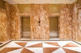 床および壁の装飾的な磨かれたトルコの茶ローズの大理石、大理石の石