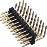2.54mm Single Row Three Powder Plating Gold 90DIP Pin Header