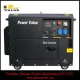 Genour Power-5.5kVA 6 кВА бесшумного Дизель-генератор с воздушным охлаждением