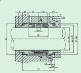 Selo mecânico da extremidade padrão e dobro para Pumpe (HUU803)